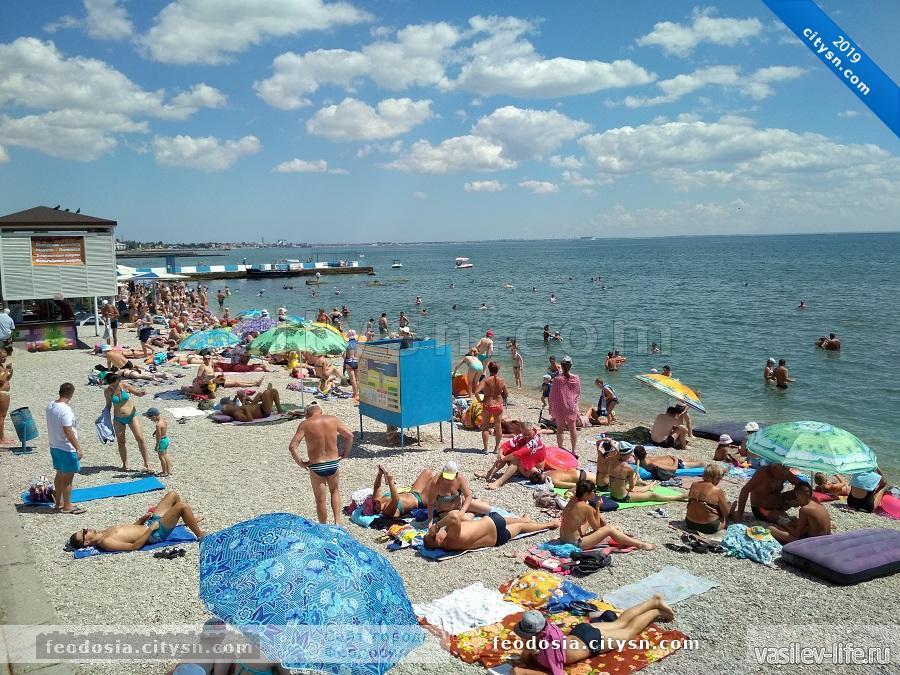 Вид на пляж Камешки