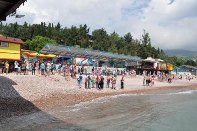 Фото обьекта Пляж детского оздоровительного центра