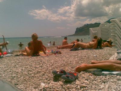 Фото на Нудистском пляже в Коктебеле