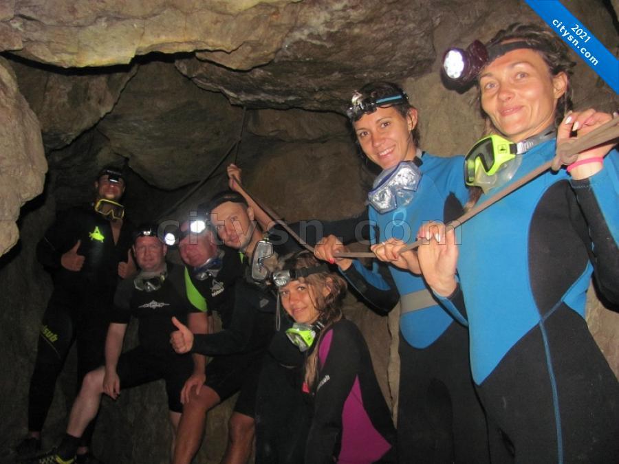 Дайвинг в пещеру Федэля